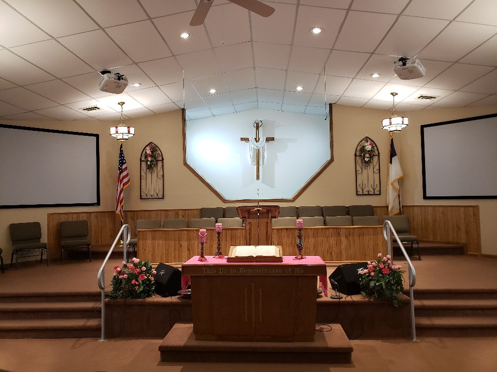 Sanctuary of First Baptist Church